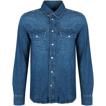 Textil Muži Košile s dlouhymi rukávy Bikkembergs  Modrá