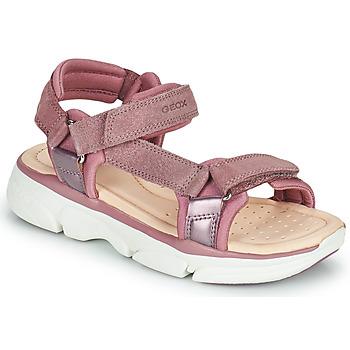 Boty Dívčí Sandály Geox J SANDAL LUNARE GIRL Růžová