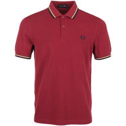 Textil Muži Polo s krátkými rukávy Fred Perry Twin Tipped Shirt Červená