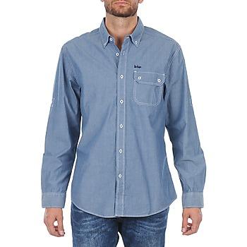 Textil Muži Košile s dlouhymi rukávy Lee Cooper Greyven Modrá