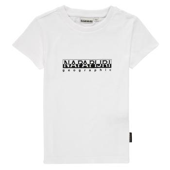 Textil Chlapecké Trička s krátkým rukávem Napapijri S-BOX SS Bílá
