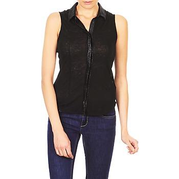 Textil Ženy Košile s krátkými rukávy Majestic ZOE Černá