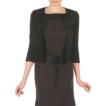 Textil Ženy Svetry / Svetry se zapínáním Majestic BERENICE Černá