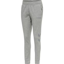 Textil Ženy Teplákové kalhoty Hummel Pantalon femme  hmlLEGACY tapered gris