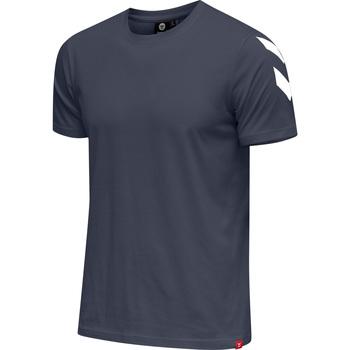 Textil Muži Trička s krátkým rukávem Hummel T-shirt  hmlLEGACY chevron bleu foncé
