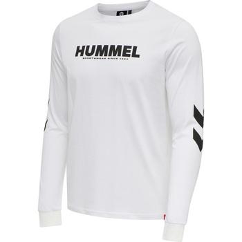 Textil Muži Trička s dlouhými rukávy Hummel T-shirt manches longues  hmlLEGACY blanc