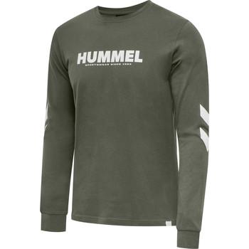 Textil Muži Trička s dlouhými rukávy Hummel T-shirt manches longues  hmlLEGACY vert kaki/blanc