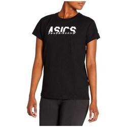 Textil Ženy Trička s krátkým rukávem Asics Katakana Graphic Tee Černé