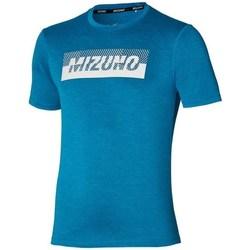 Textil Muži Trička s krátkým rukávem Mizuno Core Graphic Tee Modré