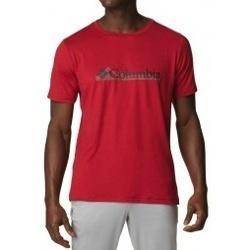 Textil Muži Trička s krátkým rukávem Columbia Tech Trail Graphic Tee červená