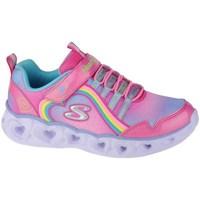 Boty Dívčí Fitness / Training Skechers Heart Lights Rainbow Lux Růžové