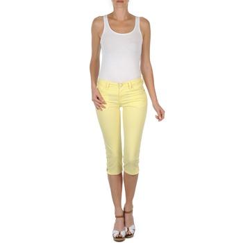 Textil Ženy Tříčtvrteční kalhoty Mustang Jasmin cropped Žlutá