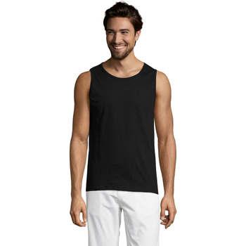 Textil Muži Tílka / Trička bez rukávů  Sols Justin camiseta sin mangas Negro