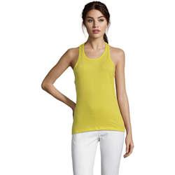 Textil Ženy Tílka / Trička bez rukávů  Sols Justin camiseta sin mangas Amarillo