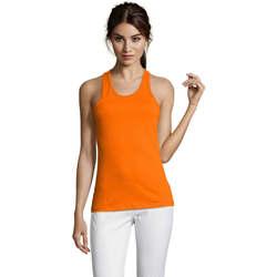 Textil Ženy Tílka / Trička bez rukávů  Sols Justin camiseta sin mangas Naranja