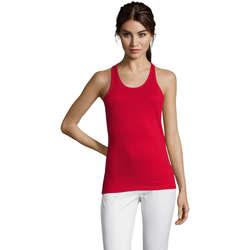 Textil Ženy Tílka / Trička bez rukávů  Sols Justin camiseta sin mangas Rojo