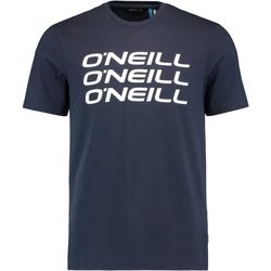 Textil Muži Trička s krátkým rukávem O'neill Triple Stack Modrý