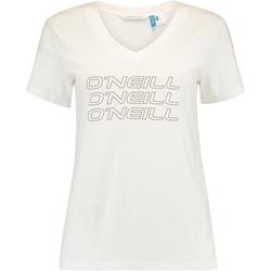 Textil Ženy Trička s krátkým rukávem O'neill Triple Stack Bílý