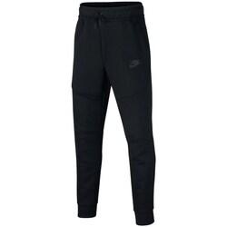 Textil Chlapecké Teplákové kalhoty Nike Sportswear Tech Fleece Černé