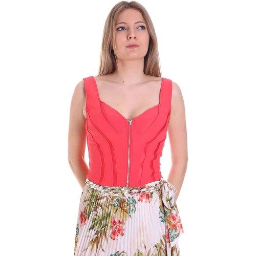 Textil Ženy Tílka / Trička bez rukávů  Guess 1GG650 6058A Oranžový