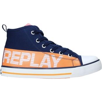 Boty Děti Kotníkové tenisky Replay GBV24 .003.C0001T Modrý