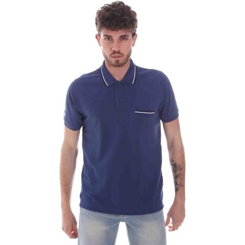 Textil Muži Polo s krátkými rukávy Key Up 2Q827 0001 Modrý