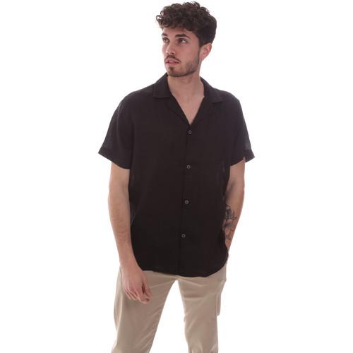 Textil Muži Košile s krátkými rukávy Sseinse CE588SS Černá