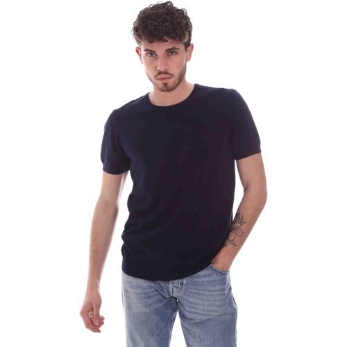 Textil Muži Trička s krátkým rukávem Gaudi 111GU53004 Modrý