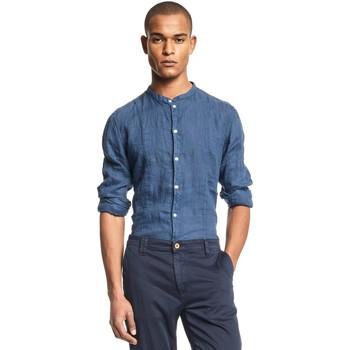 Textil Muži Košile s dlouhymi rukávy Gaudi 111GU45006 Modrý