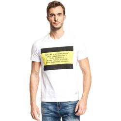 Textil Muži Trička s krátkým rukávem Gaudi 111GU64071 Bílý