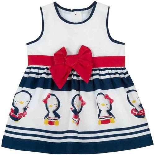 Textil Dívčí Krátké šaty Chicco 09003809000000 Bílý