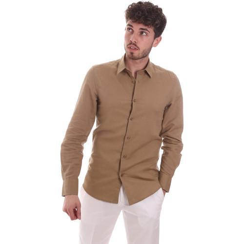 Textil Muži Košile s dlouhymi rukávy Antony Morato MMSL00628 FA400074 Béžový