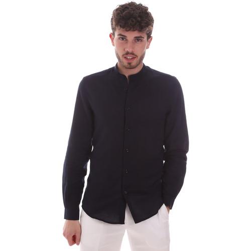 Textil Muži Košile s dlouhymi rukávy Antony Morato MMSL00631 FA400074 Modrý