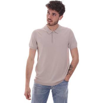 Textil Muži Polo s krátkými rukávy Gaudi 111GU53015 Béžový