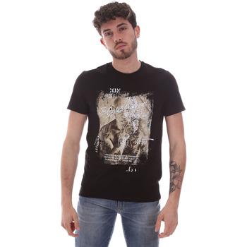 Textil Muži Trička s krátkým rukávem Gaudi 111GU64091 Černá