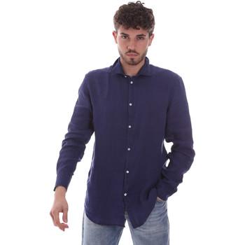 Textil Muži Košile s dlouhymi rukávy Gaudi 111GU45005 Modrý