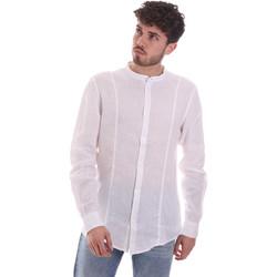Textil Muži Košile s dlouhymi rukávy Gaudi 111GU45006 Bílý