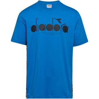 Textil Muži Trička s krátkým rukávem Diadora 502176630 Modrý