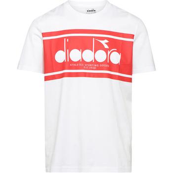 Textil Muži Trička s krátkým rukávem Diadora 502176632 Bílý