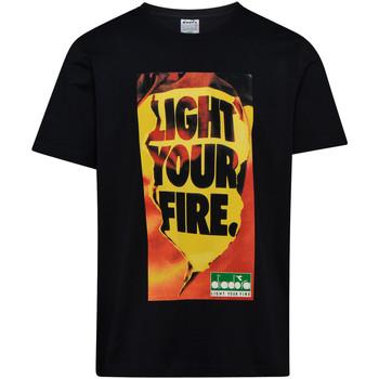 Textil Muži Trička s krátkým rukávem Diadora 502175837 Černá