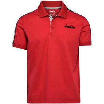 Textil Muži Polo s krátkými rukávy Diadora 102175672 Červené