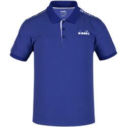 Textil Muži Polo s krátkými rukávy Diadora 102175672 Modrý