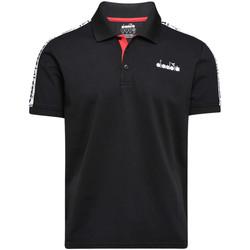 Textil Muži Polo s krátkými rukávy Diadora 102175672 Černá