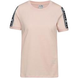 Textil Ženy Trička s krátkým rukávem Diadora 502175812 Růžový