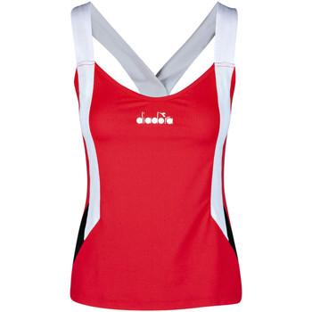 Textil Ženy Tílka / Trička bez rukávů  Diadora 102175658 Červené