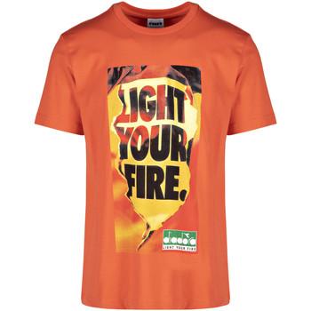 Textil Muži Trička s krátkým rukávem Diadora 502175837 Oranžový