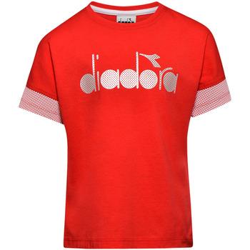 Textil Děti Trička s krátkým rukávem Diadora 102175914 Červené