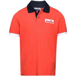 Textil Děti Polo s krátkými rukávy Diadora 102175907 Červené