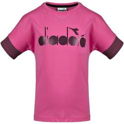 Textil Děti Trička s krátkým rukávem Diadora 102175914 Růžový