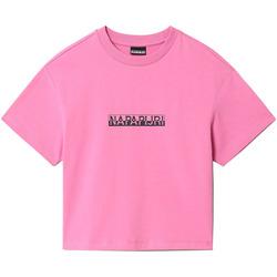 Textil Ženy Trička s krátkým rukávem Napapijri NP0A4FHG Růžový